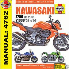 Kawasaki Z750 ZR750 Z1000 ZR1000 2003-2008 Haynes Handbuch 4762 Neu