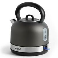 VonShef Electric Dome Kettle Cordless Stainless Steel 1.5L Quick Boil 3000W