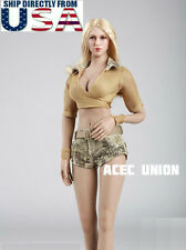 1/6 Women Military Style Outfits Jeans Set For Hot Toys Phicen Female Figure USA