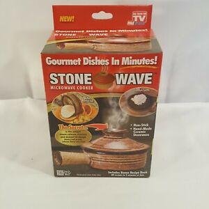 NEW Stone Wave Microwave Cooker Non-Stick Ceramic Stoneware Baking Pan ASTV