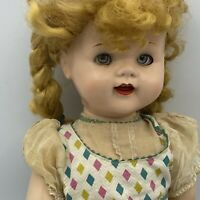 "Ideal Doll Saucy Walker 22"" Vintage Flirty Eyes Original Dress Braids"