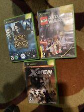 Original Xbox Lord Of The Rings, Lego Star Wars Original Trilogy, X-Man Legends