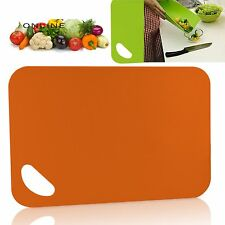 CHOPPING BOARD FLEXIBLE PLASTIC COLOUR KITCHEN CUTTING BOARDS BENDABLE MATS