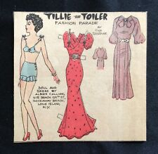 Tillie the Toiler, Sunday Funnies Paper Doll, 1936, Uncut Newspaper Section