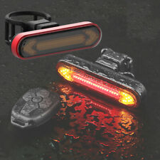 Bicycle Rear Light LED Wireless Remote Control USB Rechargeable Bike Waterproof