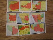 Philatelic Maps various issues lot of 40 AS IS