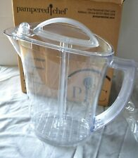 Pampered Chef 2 Quart Quick-Stir® Pitcher - Ez Frozen or Powder Mixing New/Mint