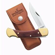 Uncle Henry's Lockback, Bear Paw, Rosewood Handle, Leather