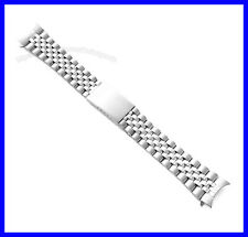 18mm 19mm 20mm Stainless Steel Curved End Jubilee Watch Band Bracelet