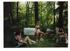 Vintage Photo Hot Young Women, Party in the Woods, 1980's, Mar