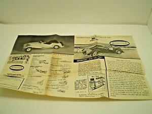 Aurora Original MG Roadster Model Car Instruction sheet L@@K!