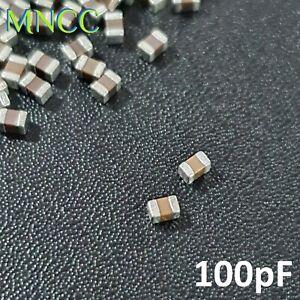 0805 2012 100pF 50V 5% MLCC Chip Capacitor SMD Multi Layer Ceramic C0G Loose