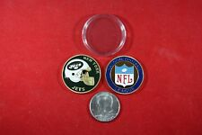 Football Coin: New York JETS w/ Hard Case Poker Card Protector