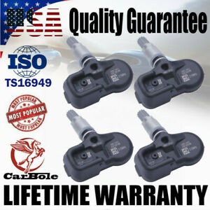 4x TPMS Tire Pressure Sensors For Toyota 4Runner Lexus ES350 GS350 42607-33021