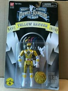 Power Rangers movie Metallic Yellow ranger Vintage rare toy new sealed