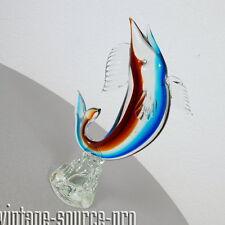 edle Murano Glas Schwertfisch Figur Vogel Tier 26 cm Vintage Retro 60er Jahre