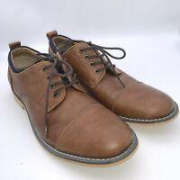 """JF J. Ferrar Men's """"Damon"""" Cognac Brown Lace Up Cap Shoe Oxford Shoes Size 8.5 M"""