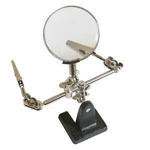 Soldering Iron Stand Helping Hands Magnifying Glass Magnifier Adjustable