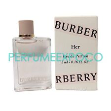 BURBERRY HER Perfume For Women 5ml-0.16oz EDP Splash MINI TRAVEL SAMPLE (C26
