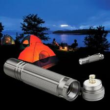 LED Q5 Flashlight Mini 14500 AA Torch Lamp Camping Hiking Biking Silver GA