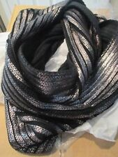 "NEW Metallic Chilly Reception Scarf 34"" L x 14"" W  Black ~ Mark by AVON"