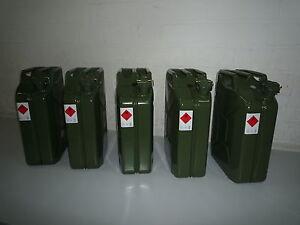 5 x 20 Liter Benzinkanister Metall GGVS mit Sicherungsstift