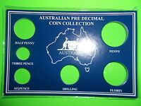 AUSTRALIAN Pre Decimal 6 coin set CARD Only Make Your Own SPECIAL BIRTHDAY GIFT