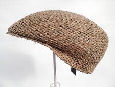Flatcap sportlich Naturstroh  Schirmmütze Cap Mütze Hut Strohhüte Sonnenhüte