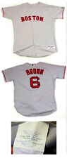 Dusty Brown Boston Red Sox game worn AFL Pesky jersey