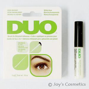 1 DUO Brush On Striplash Adhesive with Vitamins(Eyelash glue) White tone *Joy's*
