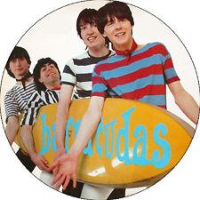 CHAPA/BADGE THE BARRACUDAS . pin button garage chesterfield kings surf fuzztones