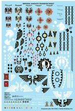 NEW Warhammer 40k Bits / Parts - Imperial Knights Transfer Sheet / Decals new