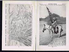 PICTURE ATLAS: Canada, Blackfeet, Plants & Animals  - 1925 Prints