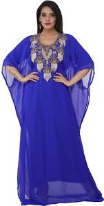 Boho Designer Abaya Haute Coutre  Maxi Gown Traditional Algerian Kaftan 8404