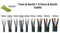 Twin and Earth, 3 Core Electrical Cable Lighting Sockets Ring 1mm 2.5mm 6mm 10mm