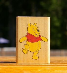 """Winnie The Pooh 2 3/8"""" Wood Mounted Rubber Stamp Stampede # A1182D Disney"""