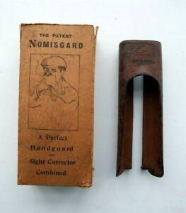 VINTAGE NOMISGARD WW GREENER 12 BORE HAND GUARD & SIGHT CORRECTOR shotgun grip