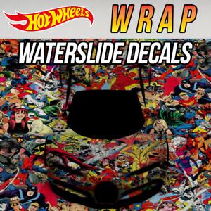 Hot Wheels Wrap Pattern Custom WaterSlide Decal for 1/64 Scale