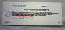 ANCIENNE CARTE / COUPON POUR UN COCKTAIL / DISNEYLAND PARIS 14 JUIN 1996