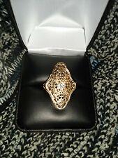 Antique 14 karat gold filigree ring