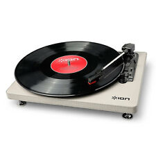 ION COMPACT LP 3-SPEED TURNTABLE WITH USB DIGITAL CONVERSION - CREAM