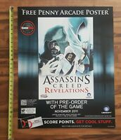 ASSASSIN'S CREED Revelations GameStop Pre-Order Promo Store Display Sign 28x22