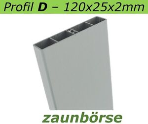 "Musterstück - Kunststoffbretter D (120x25x2mm) ""silbergrau"" Profiware -Balkon"