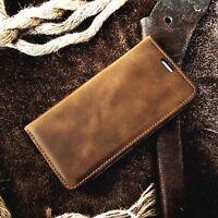 ASQUINO Handytasche Case Vintage Echtleder Schutzhülle Cover Etui Ledertasche