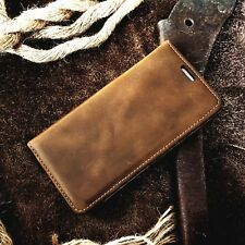ASQUINO Leather Pouch Phone Case Vintage Real Shell Cover Protective Apple iPhone 7 No