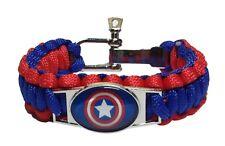 Marvel Comics CAPTAIN AMERICA Paracord Survival Braided Bracelet