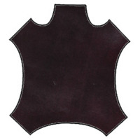 Burgundy Leather Hide, Fabric By The Yard