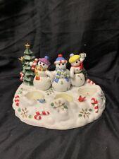 Partylite Snowbell Tealight & Pillar Candle Holder P7650 Snowman Retired Kg Ws31