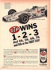 1966 GRAHAM HILL WINS INDIANAPOLIS 500 / FORMULA 1 - NICE ORIGINAL STP AD