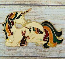 Vintage Suncatcher Unicorns & Bunny Window Decoration Christmas Ornament Fantasy